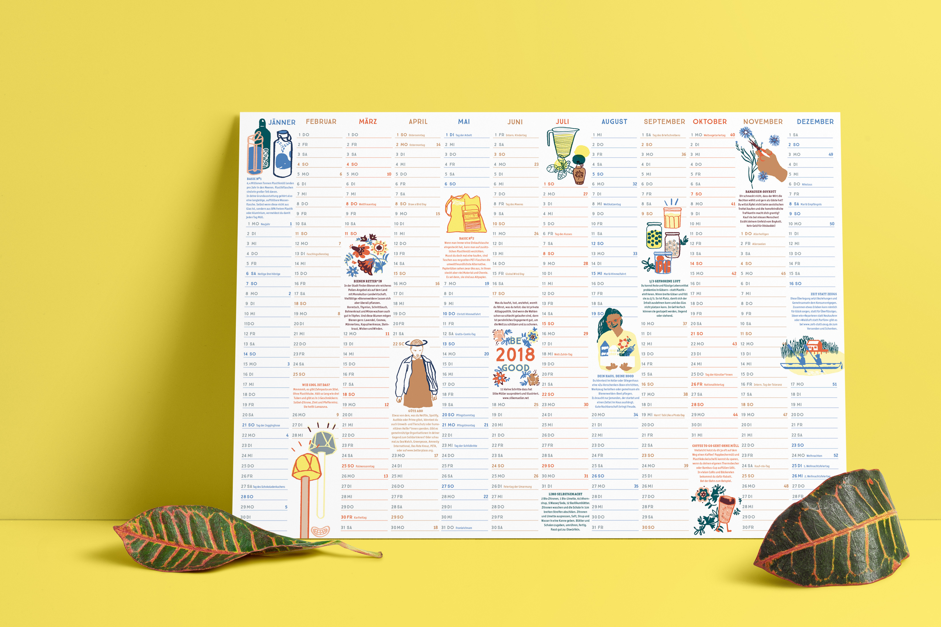 "Wandkalender ""Be good"", Illustration, Silke Müller, Linz"
