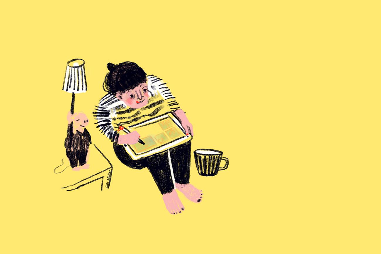 Über mich · Meet the artist · Silke Müller · Illustration