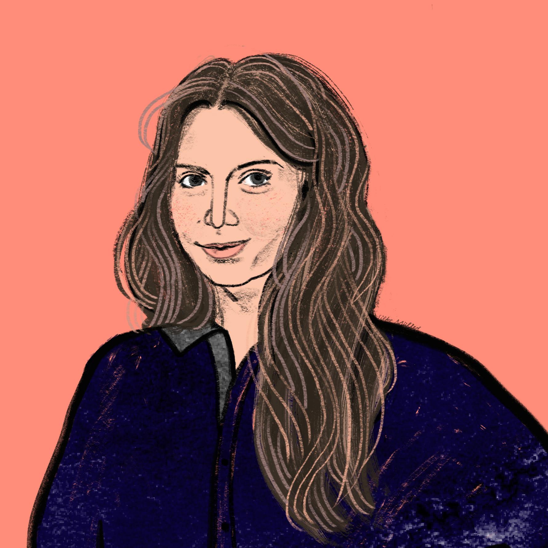 Große Töchter Podcast | Veronika Bohrn-Mena | Illustration Silke Müller