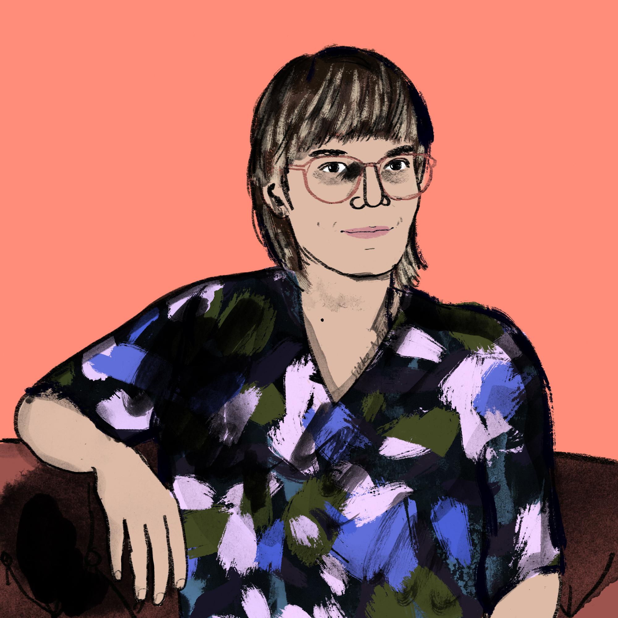 Svenja Gräfen für Große Töchter Podcast | Beatrice Frasl | Illustration: Silke Müller