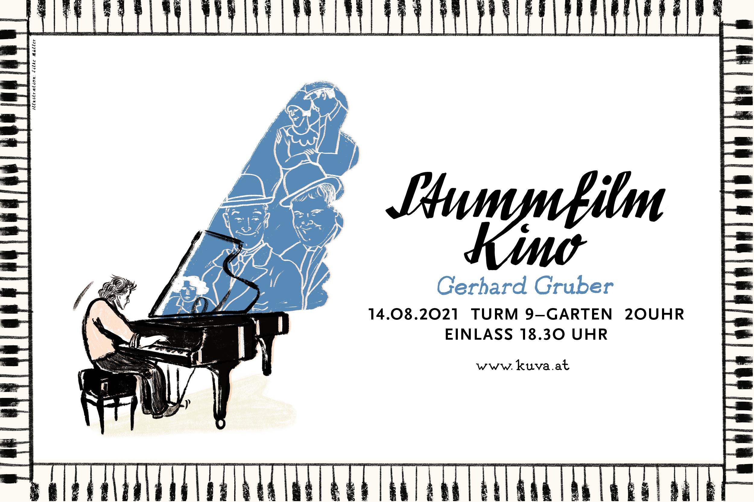 Stummfilmkino | Gerhard Gruber | KUVA | Illustration: Silke Müller