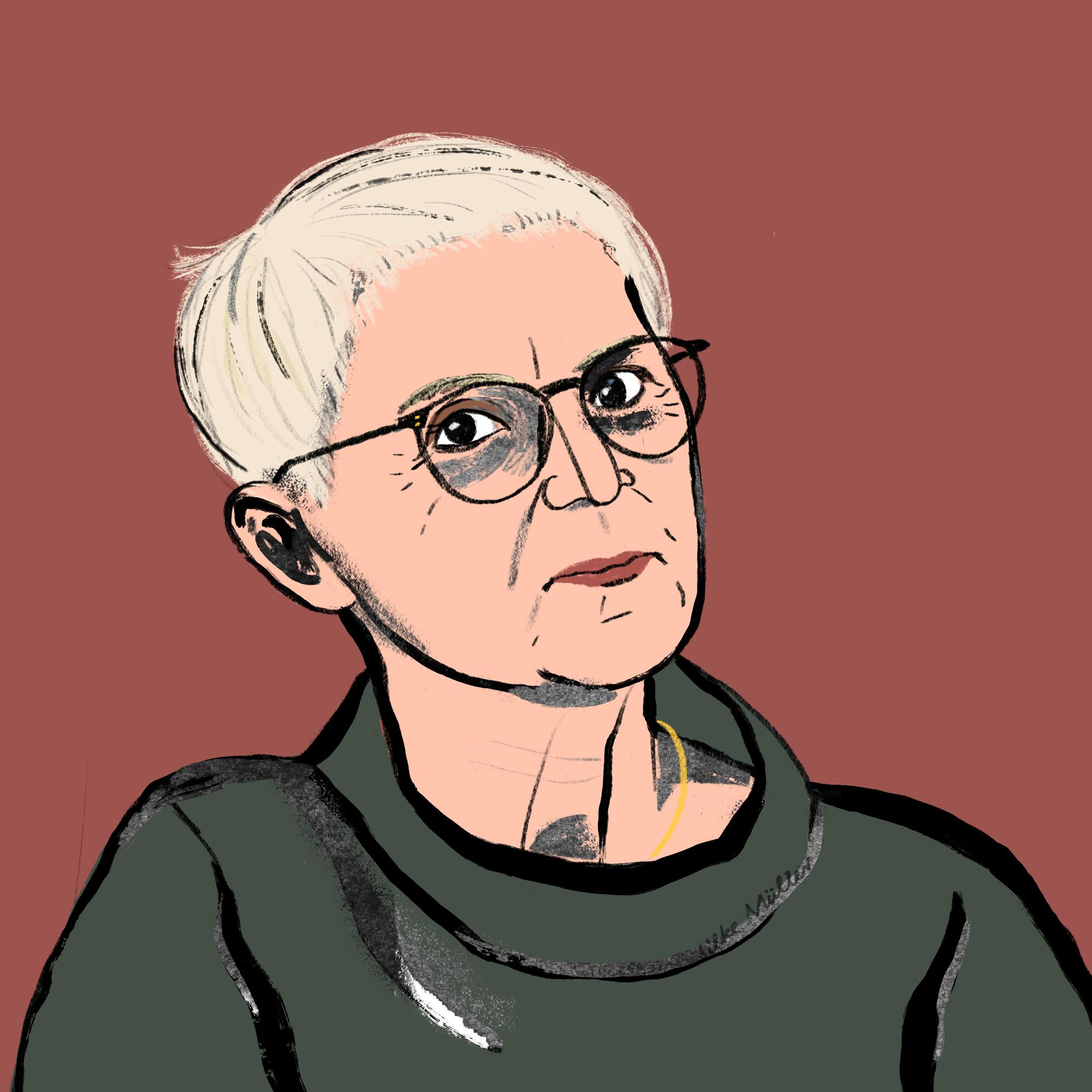 Maria Rösslhumer für Große Töchter Podcast | Beatrice Frasl | Illustration: Silke Müller